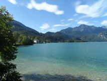 Kochelsee lata widok na jeziorze obraz royalty free