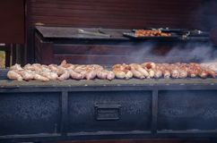 Kochen auf dem Grill Lizenzfreie Stockbilder