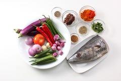 Kochen der Bestandteile Stockfoto