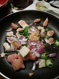 Kochen der Bratpfanne Stockfotos