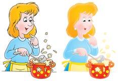 Kochen der Frau Lizenzfreies Stockfoto
