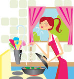 Kochen der Frau Lizenzfreie Stockbilder