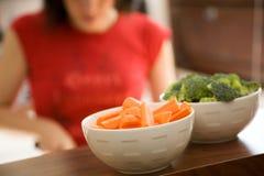 Kochen der gesunden Nahrung Stockfotos