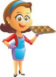 Kochen der Hausfrau Stockbilder