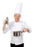 Kochen der köstlichen Nahrung stockfoto
