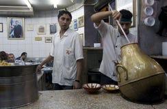Kochen der Nahrung in Jordanien. Stockfotografie