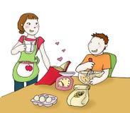 Kochen der Paare Stockbilder
