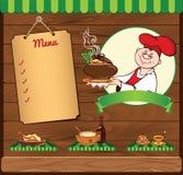 Kochen der Schablone mit Leiter Stockbilder