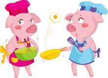 Kochen der Schweine Lizenzfreies Stockbild
