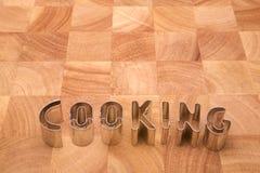 Kochen der Zeichen Stockfoto