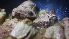 Kochen des Fleischeintopfgerichts stock footage