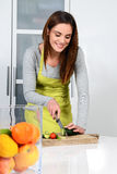 Kochen des Gemüses Stockbild