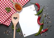 Kochen des Hintergrundes Stockfotos