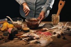 Kochen des Nachtischs Stockfotografie