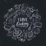 Kochen des Plakats Stockbild