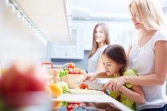 Kochen des Salats Stockbild
