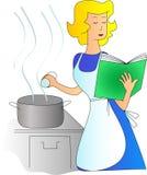 Kochen eines Gerichtes Stockbild
