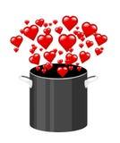 Kochen mit Liebe Stockbild