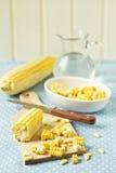 Kochen mit Mais Stockfotografie