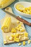 Kochen mit Mais Lizenzfreies Stockfoto