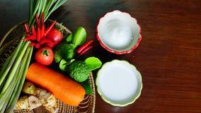 Kochen mit vegestable Garten Lizenzfreie Stockfotografie