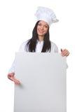 Kochen Sie mit einer leeren Tabelle als Menü Lizenzfreies Stockfoto