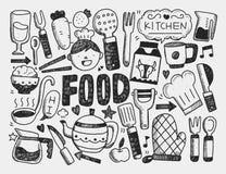 Kochen und Küchenhintergrund Lizenzfreies Stockfoto