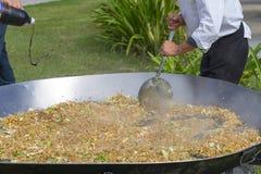 Kochen vielen Lebensmittels Lizenzfreies Stockfoto