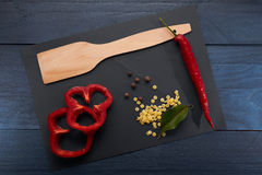 Kochen von Abstraktion auf Hintergrund Stockfotos