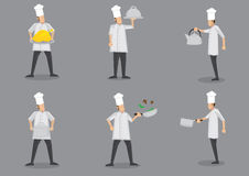 Kochen von Chef-Cartoon Characters Vector-Illustration stock abbildung