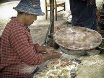 Kochen von chinesischen Mahlzeiten Stockfotos