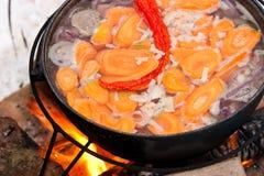 Kochen von Chorba Stockfoto
