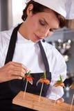 Kochen von Demonstration lizenzfreies stockfoto