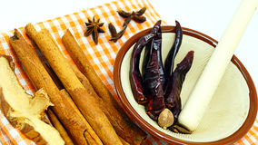 Kochen von Gewürzen und von Kräutern Lizenzfreie Stockfotos