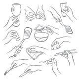 Kochen von Handentwürfen Lizenzfreies Stockfoto