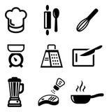 Kochen von Ikonen Stockbild