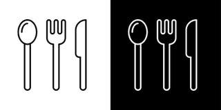 Kochen von Ikonen cutlery L?ffel, Gabel, Messerikone vektor abbildung