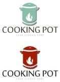 Kochen von Topfikonen Stockfotos