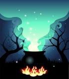 Kochender Halloween-großer Kessel Lizenzfreie Stockfotografie