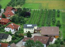 Kochertal en Hohenlohe Imagen de archivo libre de regalías