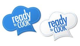 Kochfertige Aufkleber Stockfotos