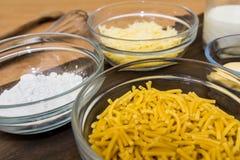 Kochfertiges Macaroni Cheese Lizenzfreies Stockfoto
