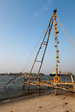 Kochi, India. Chinese fishing nets. Chinese fishnets. Kochi in province Kerala India Stock Photo