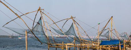 Kochi, India. Chinese fishing nets Stock Photography