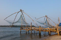 Kochi, India. Chinese fishing nets Stock Images