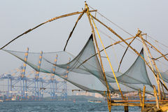 Kochi, India. Chinese fishing nets Royalty Free Stock Photography