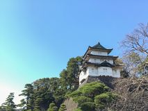 Kochi, Japan - March 26, 2015 : General view of Kochi Castle in. Kochi Prefecture, Shikoku, Japan Stock Photography