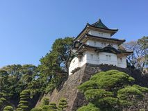 Kochi, Japan - March 26, 2015 : General view of Kochi Castle in. Kochi Prefecture, Shikoku, Japan Royalty Free Stock Image