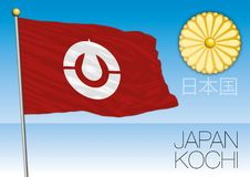 Kochi prefecture flag, Japan. Vector file, illustration Royalty Free Stock Photography