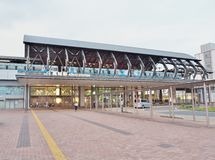 Kochi Station. Kochi, Japan - July 19, 2016: Kochi Station is a railway station on the Dosan Line of the Shikoku Railway Company JR Shikoku located in the city Royalty Free Stock Photos